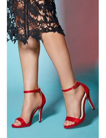 e9f075a1b37 Quiz. TOWIE Red Barely There High Heel Sandals. from Quiz Clothing. £22.99.  Pewter Glitter Block ...