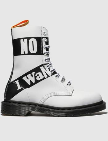 a88ebe2e1e6a White   Black 1490 10 Eye X Sex Pistols Boots from Schuh