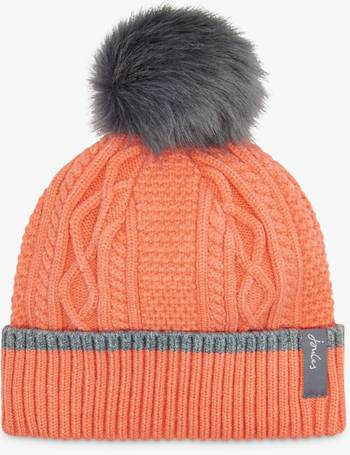 547682a79 Anya Bobble Cable Knit Pom Pom Beanie Hat