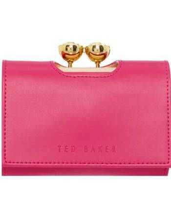 5df622d4bd8256 Ted Baker. Shyla bright pink small matt flap over purse. from House Of  Fraser