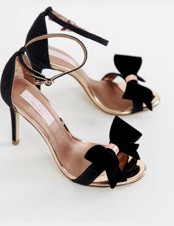 cad7fe677755e8 Ted Baker. black sparkling bow detail barely there heeled sandals. from ASOS.  £140.00. Suszie White ...
