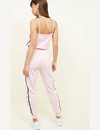 8d9288569ae6 Pink Side Stripe Drawstring Jumpsuit New Look from New Look