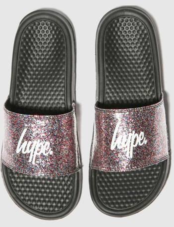 fa5dec9e5e67d Black   Silver Glitter Slider Sandals from Schuh