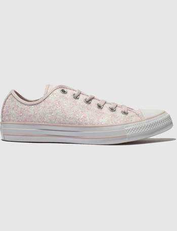 ee659482ec5e Converse. Pink All Star Glitter Ox Trainers. from Schuh