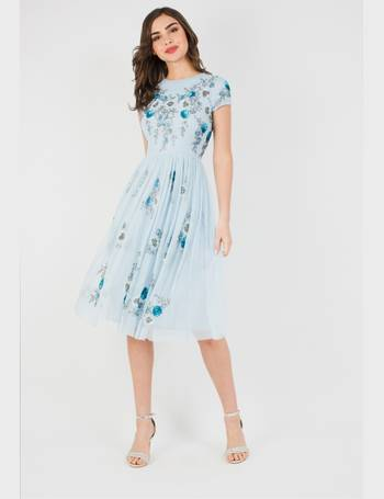 Lace   Beads Nobu Midi Sky Blue Dress from Tfnc 11f2a0961