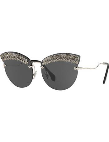 882068336b Miu Miu. MU 58TS Women s Crystal Embellished Cat s Eye Sunglasses