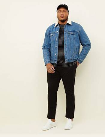 f2b0115bc0ff7 Plus Size Pale Blue Washed Borg Lined Denim Jacket New Look from New Look