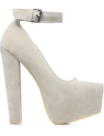 44c522fbf4 Beige Suede Hidden Platform and Ankle Strap Heels from KOI Footwear