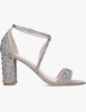b7792aad855 Carvela. Loyalty Suedette Stud Embellished Block Heeled Sandals