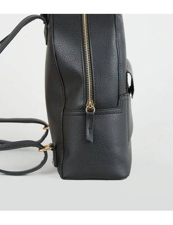 best prices genuine factory Black Popper Pocket Mini Backpack New Look