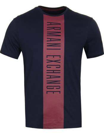 7124e2d0f3b Navy Logo Tape Stripe T-Shirt from Woodhouse Clothing