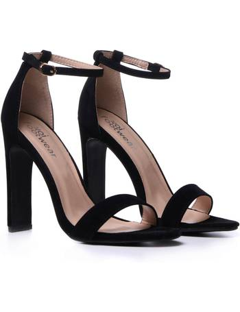 559e2b2e0f0 Black Suede Illusion Heel Sandals from KOI Footwear