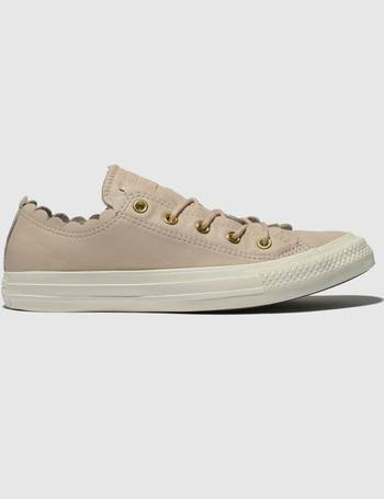 4d3fd8a5c8af Converse. Pale Pink All Star Frilly Thrills Ox Trainers. from Schuh