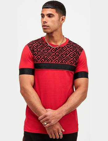 Glorious Gangsta Mens New Short Sleeve Crew Neck T-Shirt Dalian Black Red