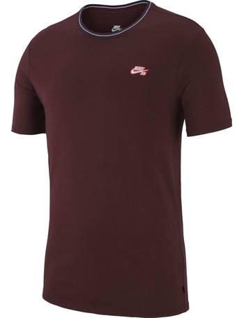 9908fa8677dc Nike SB. Striped Rib T Shirt - Burgundy Crush White White. from Skatehut