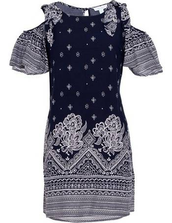 4cc67fa3056 Womens Blue Vanilla Navy Tie Shoulder Tunic Dress- Navy from Dorothy Perkins