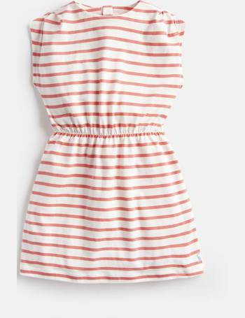 b9bffab480c5 Cream Pink Stripe Annabel Jersey Printed Dress 1-6 Yr from Joules