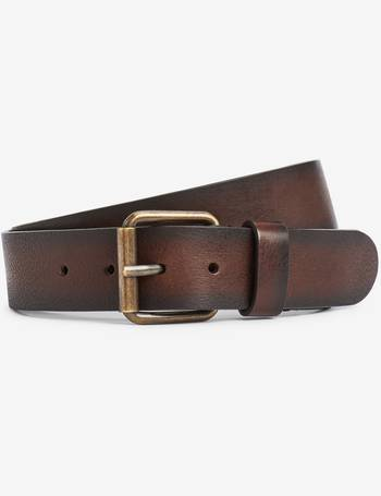 Mens Brown Leather Belts from Next   DealDoodle