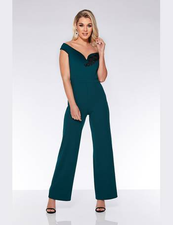 f814199e286e Bottle Green Palazzo Jumpsuit from Quiz Clothing
