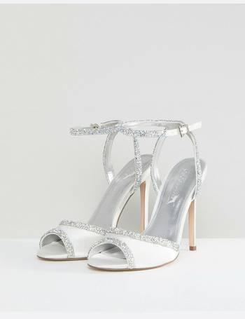 62e7cfb1e95 ASOS HITCHED Wide Fit Bridal Embellished Heeled Sandals