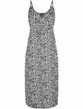 94718bd408b White Leopard Print Satin Midi Dress New Look from New Look