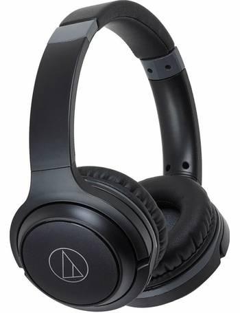 e9fd500d1a6 ATH-S200BTBK On-Ear Wireless Headphones-Black from Argos