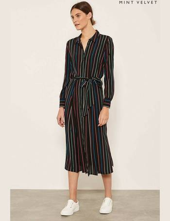 3445836708b Mint Velvet. Ink Twist Front Shirt Dress. from Next. £109.00. Multi Stripe Shirt  Dress from Next