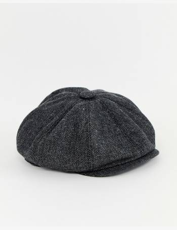 2389bf94cf278 baker boy hat in grey herringbone from ASOS