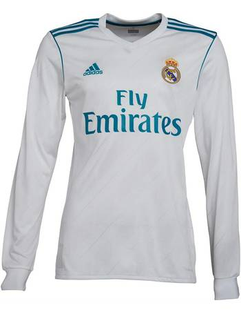 64df55d9f Adidas. Mens RMCF Real Madrid Home Jersey White Vivid Teal