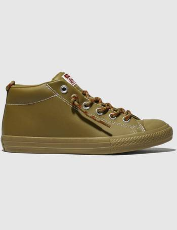 5fead37fefd4ac Converse. Tan All Star Street Mid Trainers Youth. from Schuh