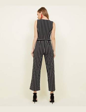 7ff070db8a2f Black Stripe Wrap Jumpsuit New Look from New Look. Quick View · Cameo Rose
