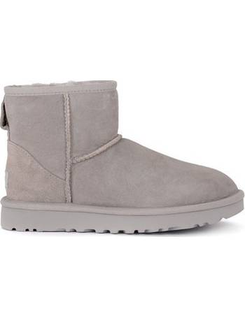 89557caa90b UGG Classic II Mini light grey suede sheepskin ankle boots