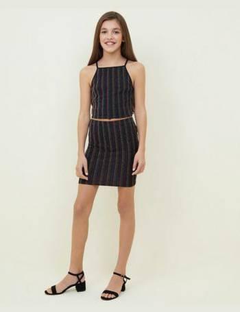 dfe7ee107 Girls Rainbow Glitter Stripe Tube Skirt New Look from New Look