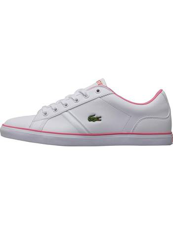 c39832b1a Lacoste. Junior Girls Lerond Trainers White Pink