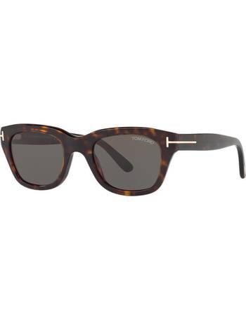 f08780d96b49 Tom Ford. Ft0237 Snowdon Brown Square Sunglasses. from Sunglass Hut Uk