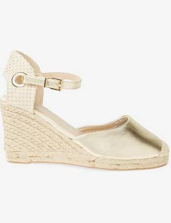 f5faee5970c2 Womens Gold  Raven  Espadrille Wedge Sandals- Gold from Dorothy Perkins