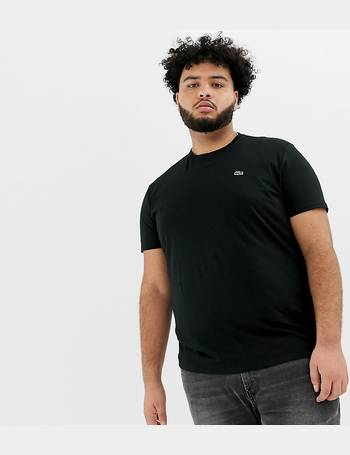 e454cf80437a Lacoste. large croc logo t-shirt in black. from ASOS
