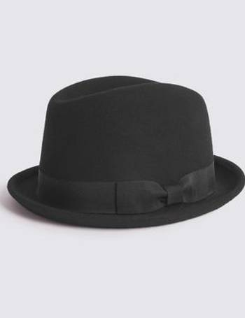 7b3622887f21f Pure Wool Trilby Hat with Stormwear from Marks   Spencer
