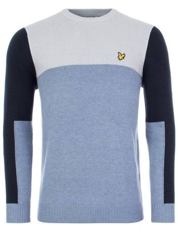 Lyle and Scott Colour Block V-neck Sweater Jumper