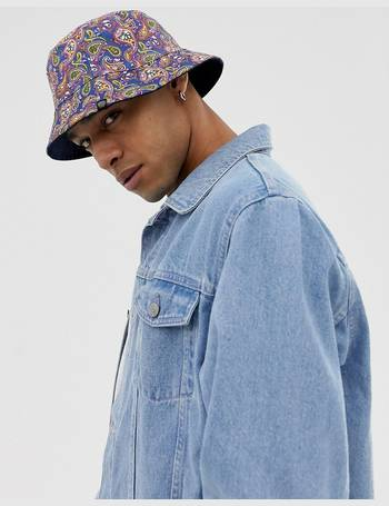 34805df0840 all over paisley print reversible bucket hat from ASOS