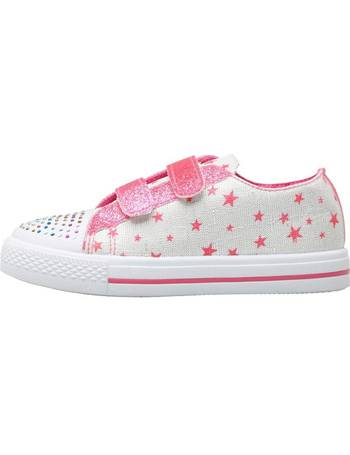 2ff30d243bcb Board Angels. Girls Velcro Pumps With Star Print ...