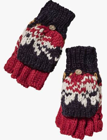 Fat Face Boys Ski Fairisle Mittens