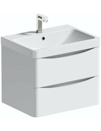 Mode Vanity Units Dealdoodle, Mode Austin White Wall Hung Vanity Unit And Basin 600mm