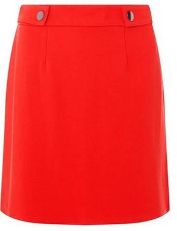88d11d78703 Womens Red Side Popper Mini Skirt- Red from Dorothy Perkins