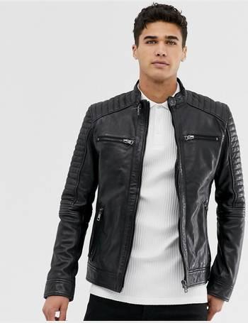 deca573cb Barney's original real leather 4 pocket biker jacket