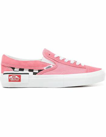 24ecd668087 Checkerboard Slip-on Cap Shoes ((checkerboard) Strawberry Pink true White)