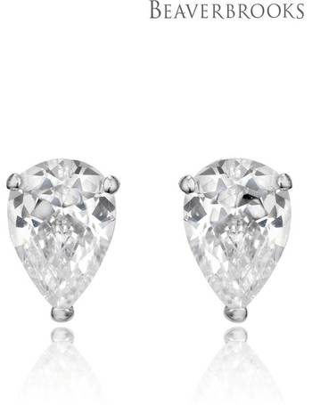 9b65251a2 9ct White Gold Cubic Zirconia Stud Earrings from Next