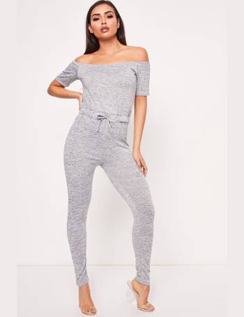 0092f43e0b45 Milly Grey Bardot Short Sleeve Jumpsuit from Miss Pap