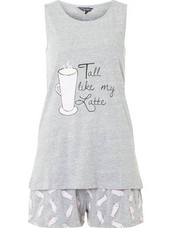Womens Tall Grey Latte Pyjama Set- Grey from Dorothy Perkins 0298f14dc