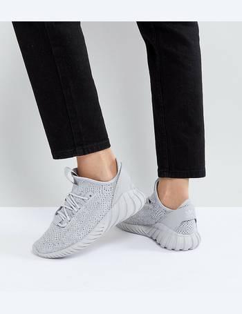 first rate fedca b2daa Adidas Originals. Tubular Doom Sock Trainers In Grey. from ASOS